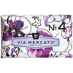 Via Mercato Italian Soap Bar (200g), No. 4 - Magnolia and Amber