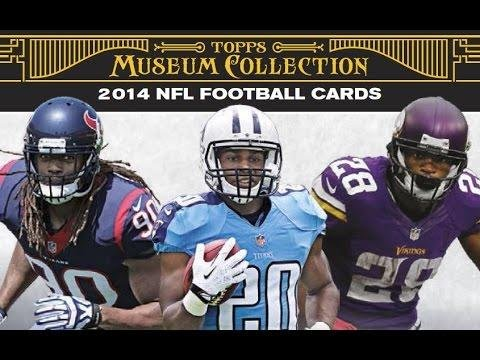 Collection Hobby Box (2014 Topps Museum Football Cards Hobby Box (4 Packs/Box, 5 Cards/Pack, 1 Jumbo Relic and 1 Quad Relic, Find One Canvas Collection art card, 2 Additional Big Hits Per Box) In Stock!!)