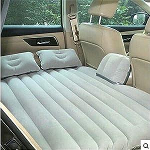 Car Mattress Travel Air Bed Inflatable Mattress Camping Universal with Air Pump,Two Pillows Light Gray