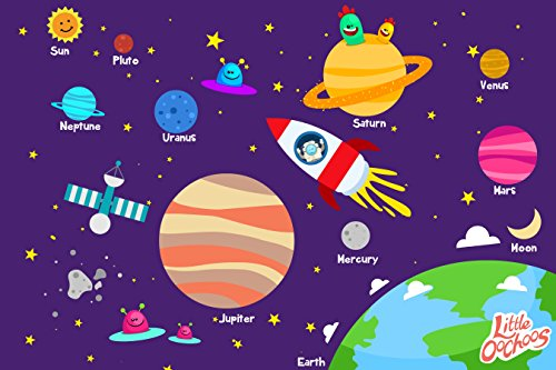 Planets Space Disposable Placemats For Table Top 60 Mats