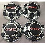 "Gosweet 4X Brand New Set of 4 Pieces Chrome Truck Van Wheel Caps for GMC Sierra Yukon Savana 6 Lug 1500 Center Caps 16"" 17"" wheels Hubcaps 22837059 US Fast Shipment"