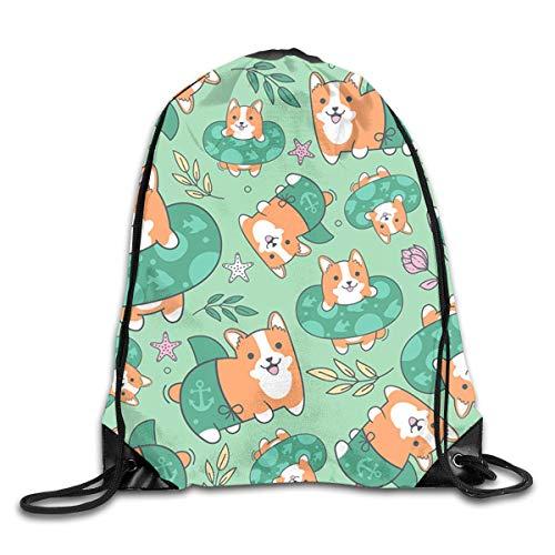 Stylish Shoulder Bundle Backpack Corgi Beach Party Lightweight Drawstring Bag Pack Fit For School/Running/Hiking/Shopping/Climbing/Yoga/Beach/Fitness]()