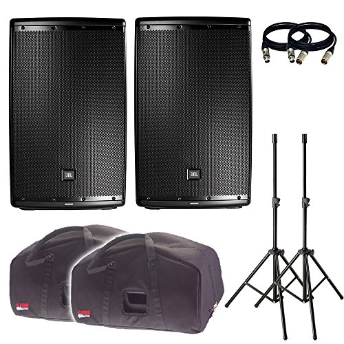 JBL EON615 15-Inch Two-Way Multipurpose Self-Powered Sound Reinforcement. With Free Covers, Stands and 2 XLR Cables. ()