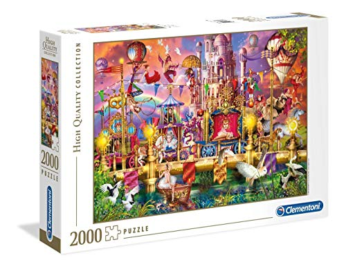 (Clementoni 32562 32562 Collection Puzzle The Circus-2000 Pieces, Multi-Coloured)