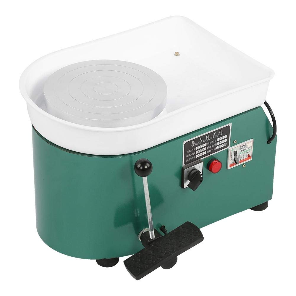Aufee Pottery Wheel Machine, 350W Green Reliable Pottery Wheel Machine Ceramic Throwing Shaping Tool with Lever Pedal for Teaching, Entertainment(US Plug, 110V) by Aufee (Image #6)