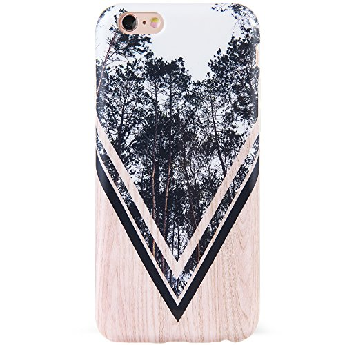 DICHEER iPhone 6 Case,iPhone 6s Case,Cute Grey Trees and Wood for Women Girls Slim Fit Thin Clear Bumper Glossy TPU Soft Rubber Silicon Cover Best Protective Phone Case for iPhone 6/iPhone 6s 4.7 inch