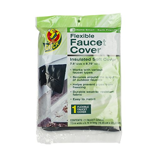 Duck Brand Insulated Soft Flexible Faucet Cover for Freeze Protection, 7.5 by 8.75-Inch, 280462