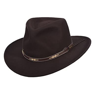 a5651a72 Image Unavailable. Image not available for. Color: Scala Classico Men's  Wool Felt Outback Hat ...