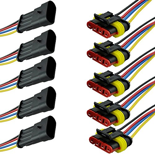 EE Support TM 5 X Pin Cable Plug Connector Waterproof Quick Connector Auto: