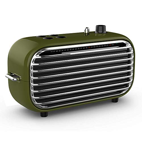 Retro Bluetooth Speaker, Lofree Poison, Portable Wireless Speaker with Strong Bass Enhancement, 20W Output, Bluetooth 4.2, FM Radio, Vintage Style Gift for Birthday, Business Occasion, Music Lover