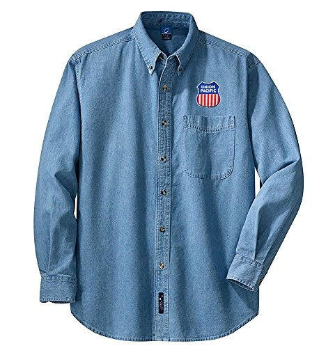 Union Pacific Logo Long Sleeve Embroidered Adult L [den47LS]