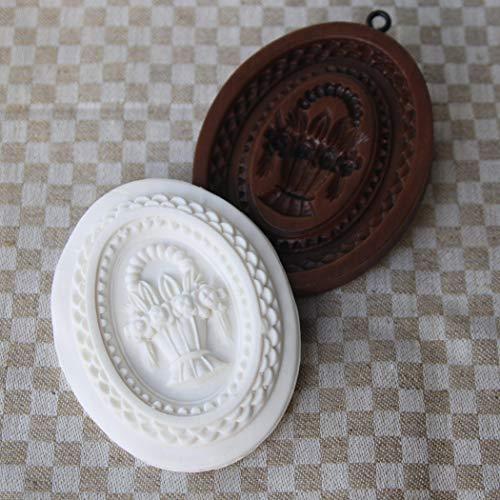 Tisket Tasket Flower Basket springerle cookie mold (Basket Mold Flower)