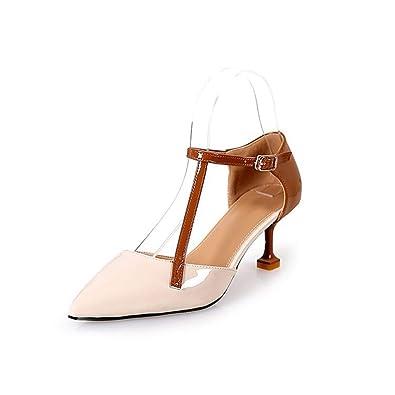 28043db32c1 JITIAN Escarpins Ouverts à Talons Femmes Chaussures Aiguilles Kitten-Heels  Pumps Pointu Salomé Escarpin Brige