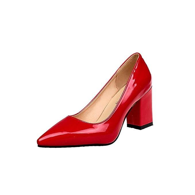 Oferta de liquidación de Covermason! Zapatos de tacón cuadrado de ... 7a52a4208a5f