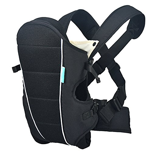 HarnnHalo Ergonomic Baby Child Carrier (7.7 lbs/3.5 kg-33 lbs/15 kg), Detachable Bib, Black