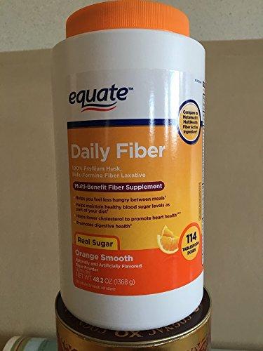 Equate Orange Flavor Fiber Therapy Fiber Laxative/Fiber Supplement, 48.2 oz