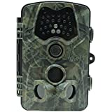 MDTEK 16GB SD Card+Trail Game Camera RD1000SA, 12MP 1080P 120° Wide Angle Infrared Night Vision, with 24 Infrared Flash, Waterproof Dustproof, Applied to Scouting Camera for Wildlife Surveillance