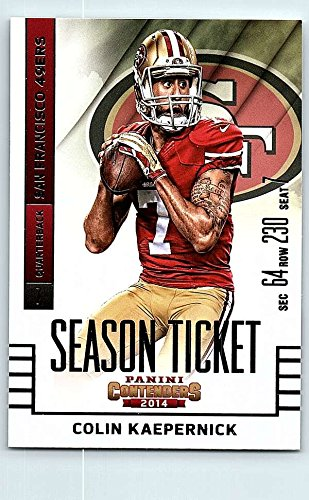 2014 Playoff Contenders Season Ticket #3 Colin Kaepernick NM-MT San Francisco 49ers Official NFL Football Card