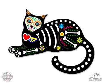 Amazon.com: GT Gráficos gato sentado de calavera de azúcar ...