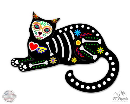 GT Graphics Sugar Skull Cat Sitting - 5