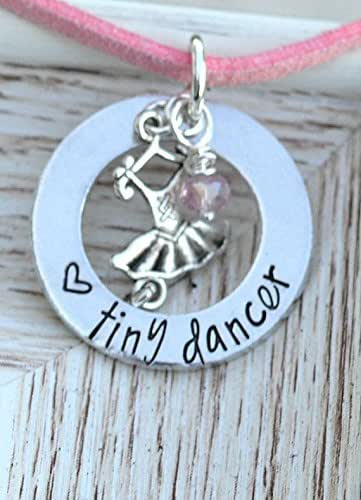 Amazon.com: Ballerina Dancer Necklace on Leather Cord