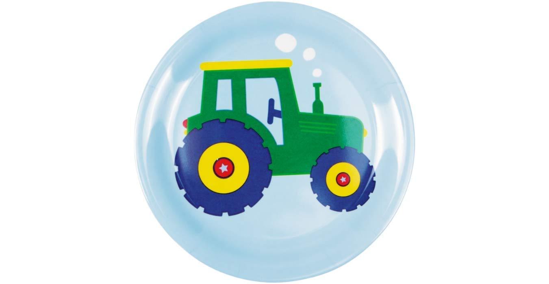 Melamin-Becher Traktor Melamin-L/öffel Traktor Melamin-Schale Traktor Spiegelburg Kinder 4er Set 15841 15842 15843 15844 Kleiner Melamin-Teller Traktor