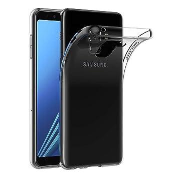 XTCASE Funda Samsung Galaxy A8 2018 Silicona Transparente, Ultrafina Suave TPU Carcasa para Samsung Galaxy A8 2018 Delgado Flexible Protectora Case ...