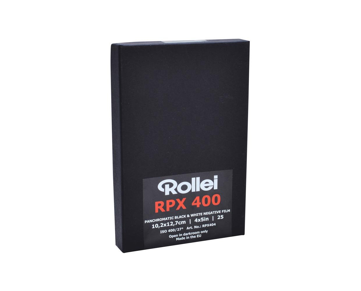Rollei Film Accessories RPX 400 ISO, 4x5, 25 Sheets