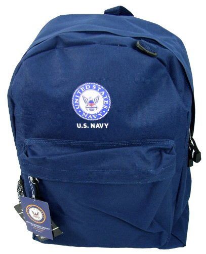 State Logo Backpack (Military School Backpack (17inch, US NAVY - Navy))