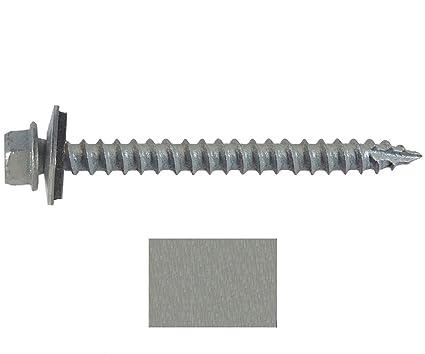 """250 Galvanized Zinc Sheet Metal Roof Screws METAL ROOFING SCREWS 2-1//2/"""" Long"""