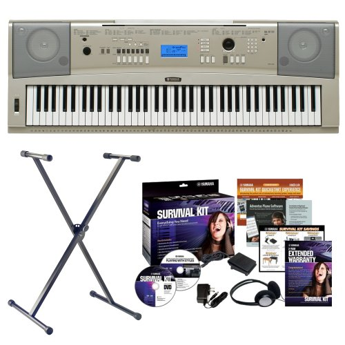 yamaha-ypg-235-76-key-portable-grand-keyboard-bundle-with-keyboard-stand-and-survival-kit