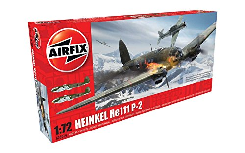 Airfix 1:72nd Scale WWII Heinkel HE.III P2 Plastic Model Kit