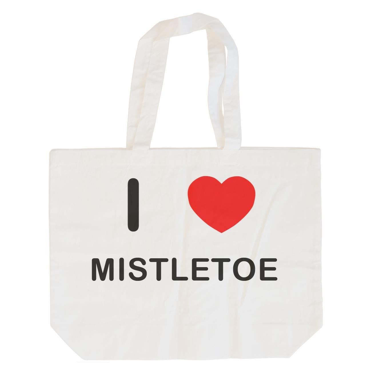 Cotton Maxi Shopping Bag I Love Mistletoe