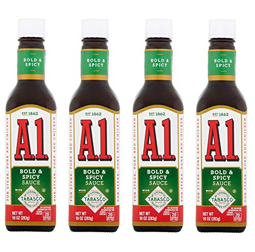 (A.1. Bold & Spicy Sauce,  10 Ounce Glass Bottle (Pack of 4) )