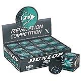 Dunlop Competition - Single Yellow Dot Squash Balls (One dozen)