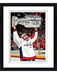 """Framed Alex Ovechkin Washington Capitals 2018 Stanley Cup Champions Autographed 16"""" x 20"""" Raising Cup Photograph with 2018 SC Champs Inscription - Fanatics Authentic Certified"""