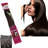 Ibeshion Thick Remy Edition Full Head Clip In Hair Extensions Dark Brown 20 Inch 180 grams 10pcs 26 Clips 100% Remy Human Hair Clips In #2 Darkest Brown Straight Hair