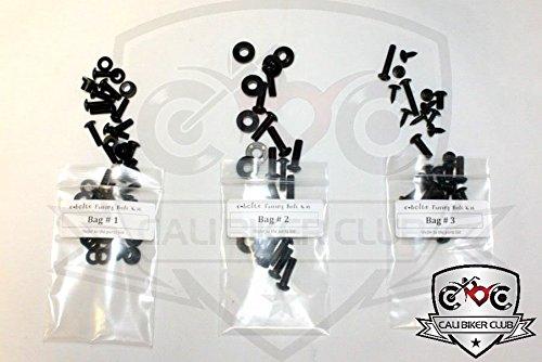 Black Fairing Bolt Kit Screws Fasteners for Honda CBR1000RR 2008-2011 CaliBikerClub 5559091714