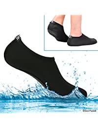 Eco-Fused Water Socks for Women - Extra Zapatos - Protects Against Sand, Cold/Hot Water, UV, Rocks/Pebbles - Easy Fit Footwear for Swimming