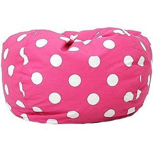 Classic Garbadine Bean Bag, Polka Dots - Candy Pink