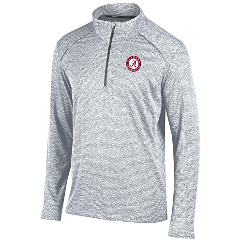 Elite Fan Shop Alabama Crimson Tide Quarter Zip Shirt Heather Gray - (Alabama Quarter Roll)