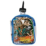 Dinosaur Skeleton Fossil Playset: 12 Piece Toy set in Clip Bag for Play on the GO!