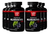 Resveratrol Premium Powder 1200mg - Premium Red Wine Extract - Maximum Strength Super Blend (6 Bottles 360 Capsules)