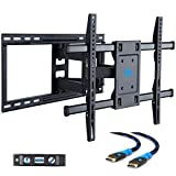 Mounting Dream MD2296-24 TV Wall Mount Bracket with Full Motion Articulating Arms for most 42-70'' LED, LCD, OLED and Plasma TVs up to VESA 600 x 400mm and 100 lbs. Fits 16'', 18'', 24'' wood studs