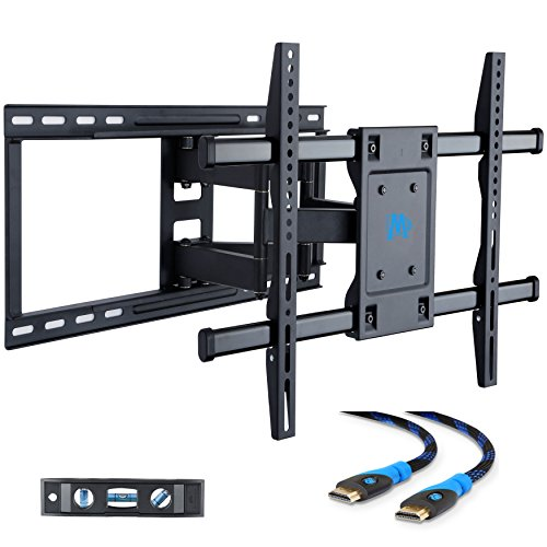 Mounting Dream MD2296-24 TV Wall Mount Bracket with Full Motion Articulating Arms for most 42-70'' LED, LCD, OLED and Plasma TVs up to VESA 600 x 400mm and 100 lbs. Fits 16'', 18'', 24'' wood studs (Lcd Wood Tv Plasma)