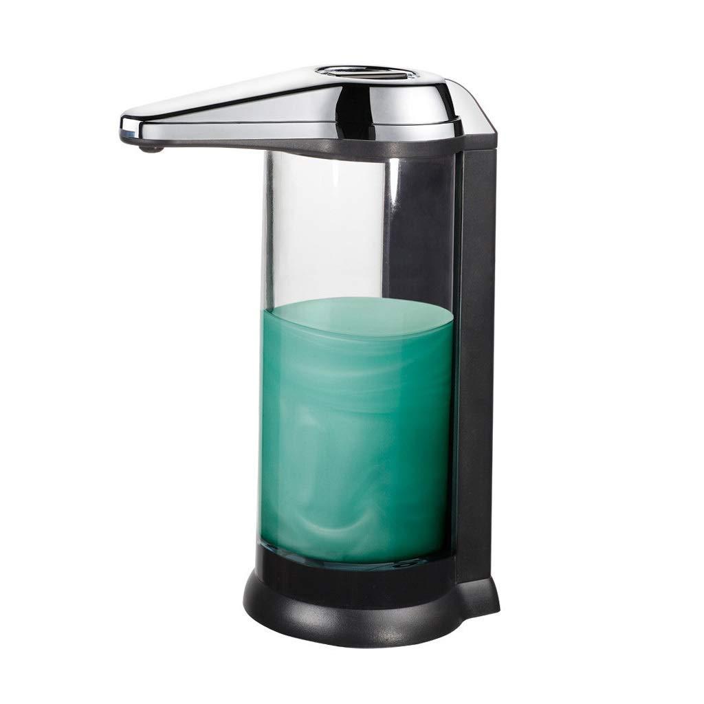Ppy778 Soap Dispenser Kitchen Bathroom Infrared Sensor Hand sanitizer 500ml Large Capacity soap Dispenser Sink Plastic Hand sanitizer Bottle (Color : Black, Size : 2215.38.3CM) by Ppy778