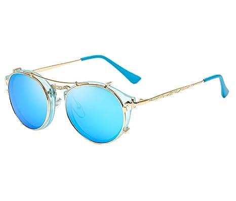 Unisex Mode Retro Outdoor AC-Objektiv UV400 Aviator Sonnenbrille Brillen,Schwarz B