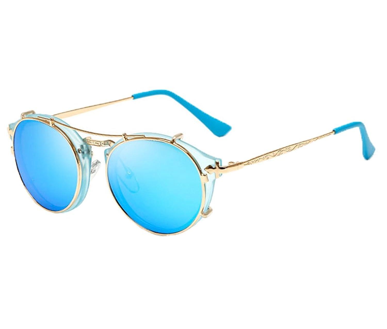 Unisex Mode Retro Outdoor AC-Objektiv UV400 Aviator Sonnenbrille Brillen,Schwarz A
