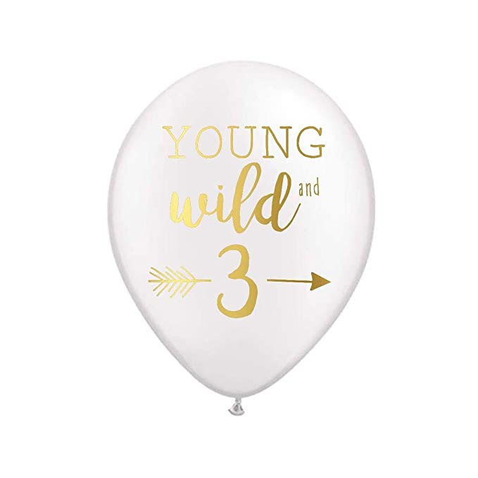 Peach 12-Pack Wild and Free Andaz Press 11-inch Balloon Trio Party Kit with Gold Cards /& Gifts Sign Rose Gold Wild One Birthday Party Theme Decorations Cactus Pastel Llama Mint Green Boho