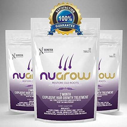 Pastillas de pelo Nugrow para cabello con vitamina de aceite; pastillas de aceite de selenuim